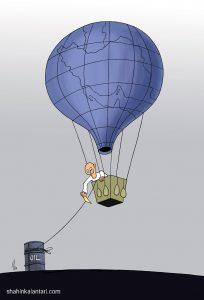 کارتونی دربارۀ اقتصاد نفتی